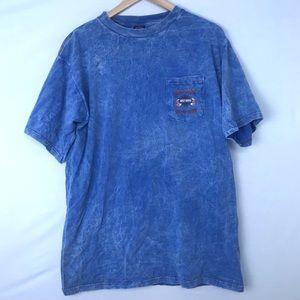 HARLEY DAVIDSON Blue Tie Dye Short Sleeve Shirt
